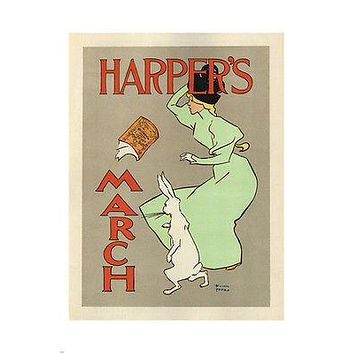 Harper's March Mag Cover VINTAGE POSTER Edward Penfield UK 1894 24X36 Classic