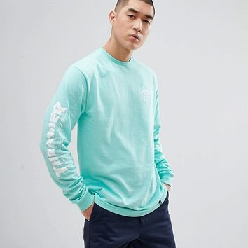 HUF x Thrasher Long Sleeve T-Shirt With Arm Print at asos.com