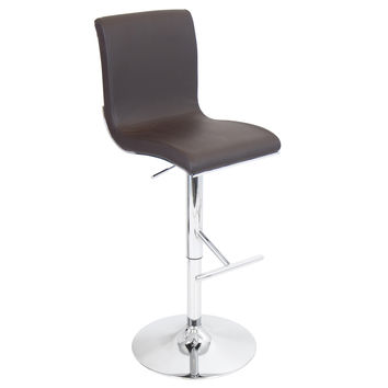 Lumisource Spago Bar Stool in Brown Matte PU