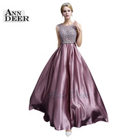ANN DEER S306 Sexy See Through Plus Size Prom Dresses 2017 A-Line Floor-length Long Formal Dress Evening Gown Robe De Soiree