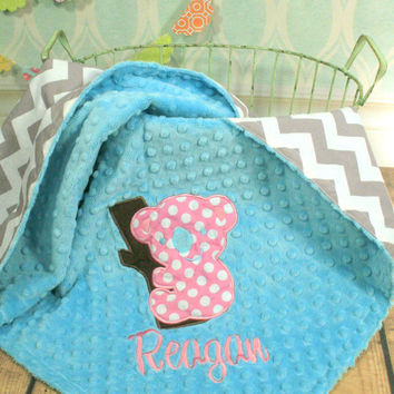 Personalized Koala Baby Blanket - Choose your Fabrics and Colors