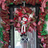 Christmas Wreath with Matching Garland, Christmas Decoration, Holiday Decor