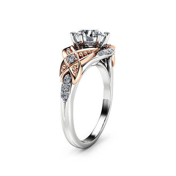 Special Reserved - 1 Carat Diamond Engagement Ring and Matching Band