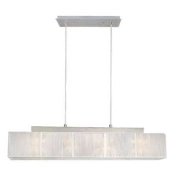 Eglo Tosca 4-Light Matte Nickel Linear Chandelier-21959A at The Home Depot
