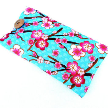Spring Cherry Blossoms Glasses Case - Flowers, Pink Flowers, Cherry Blossoms, Japan, Asian, Eyeglasses Case, Sunglasses
