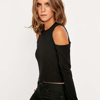 Sparkle & Fade Cut-Out Shoulder Top - Urban Outfitters