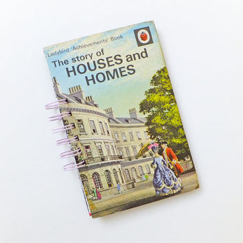 Houses and Homes Notebook, New Home Journal, Ladybird Book Journal, Notepad