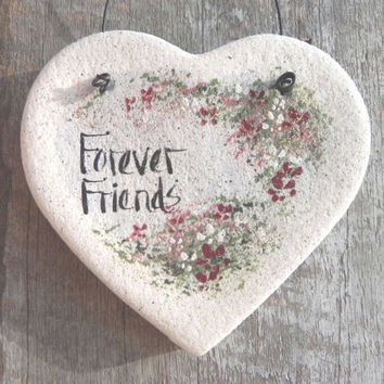 Friends Gift Salt Dough Heart Ornament