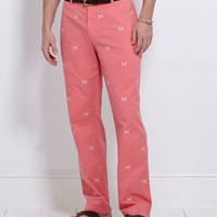 Mens Casual Pants: Club Pants: Vintage Embroidered - Vineyard Vines