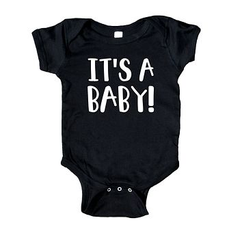 It's A Baby Gender Neutral Baby Announcement Onesuit
