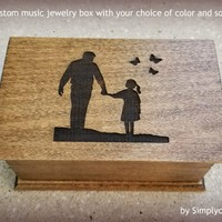father daughter dance, bride gift, father of the bride gift, music jewelry box, music box for daughter, keepsake for daughter, daddy's girl