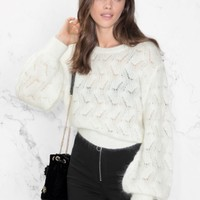 & Other Stories | Merino Wool Sweater | Off white