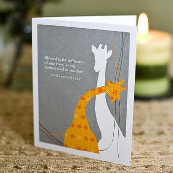 Blessed Is The Influence, A Positively Green Love and Friendship Card