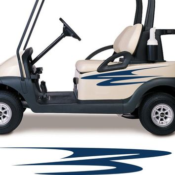 Golf Cart Go Kart Decals Side By Side Stickers Graphics Tribal Flames Stripes GG27