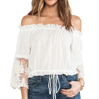 Spell & The Gypsy Collective Prarie Top in White