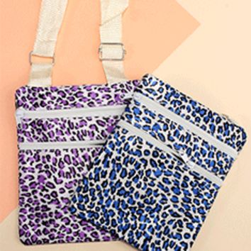 Colored Leopard Print Crossbody Bag
