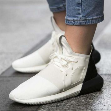 Women Running Sport Casual Shoes Sneakers White toe cap
