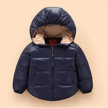 Children Coat Girls Boys Down Jacket 18 Months - 5 Years Months Warm hoodies Waterproof Winter Coat Christmas Kids Outwear