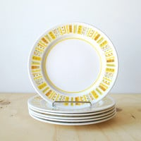 Vintage Mikasa Salad Plates Mediterrania Sunda Mid Yellow Orange White Side Plates