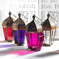 moroccan style glass lanterns by fab and funky | notonthehighstreet.com