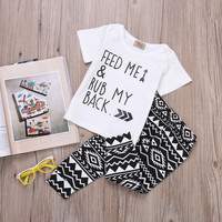 2pcs Summer baby sets infant clothing set Cotton short sleeve  Baby Boy Clothes T-shirt Tops+Pants Outfits Set