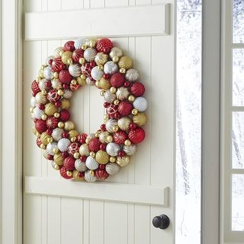 Ornament Ball Wreath - Red & Gold$135.96$169.95
