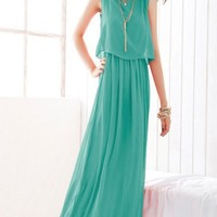 Bohemian Womens Sleeveless Chiffon Full Length Long Maxi Summer Dresses Casual