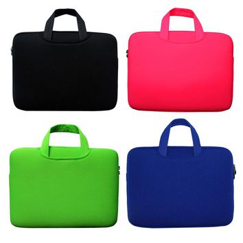 "Laptop Bag 13"" 14"" 15"" 15.6 inch Portable Soft Sleeve Handlebag Laptop Case Bags for women MacBook Pro Air Notebook gift ipad 4"