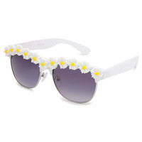 Full Tilt Daisy Time Club Sunglasses White Combo One Size For Women 23406916701