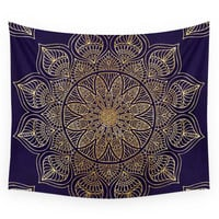 Society6 Gold Mandala Wall Tapestry