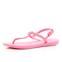 River Island Womens Pink toe post sandal Havaianas