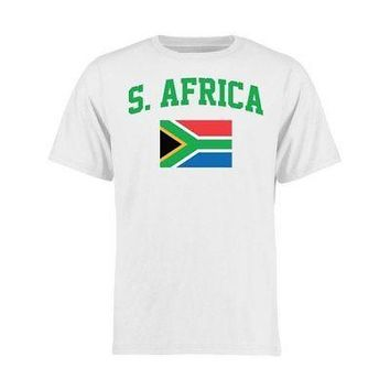Licensed Sports South Africa Youth Flag T-Shirt - White KO_20_2