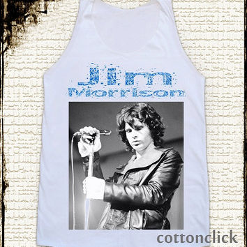 S, M, L -- JIM MORRISON Shirts The Doors Shirts Rock And Roll TShirts Women Shirts Vest Tank Top Women Tunics Sleeveless Singlet Shirts