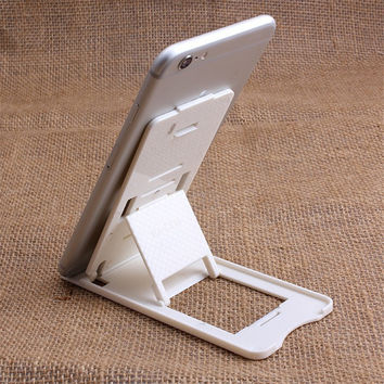 Universal Mobile Cell Phone Desk Stand Holder for iPhone 6 6s 6plus Folding Tablet iPad Smartphone Car Mount for Samsung Galaxy
