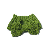 Hand Knit Headband  Ear Warmer - Pistachio Green