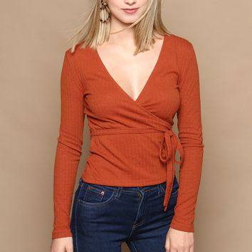MINKPINK All Wrapped up Top - Rust