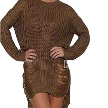 WealFeel Say Yes to the Distress Sweater dress