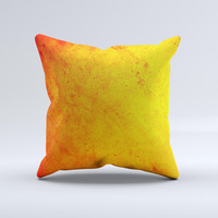 Orange Vibrant Texture  Ink-Fuzed Decorative Throw Pillow