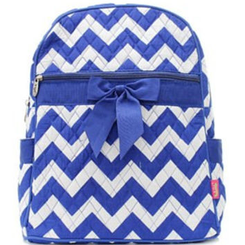 Chevron Print Quilted Backpack