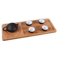 Small bamboo tea table of pure bamboo wood