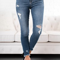 One & Only Distressed Jeans (Medium Dark)