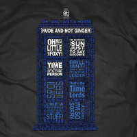 Doctor Who 10th Doctor Quotes Shirt by CBRift on Etsy