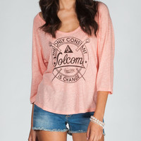 Volcom Sewnar Womens Tee Coral  In Sizes