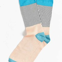Lightweight Block Pleated Rib Sock