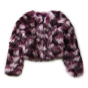 Marciano 7-16 Cropped Faux-Fur Jacket | Dillards