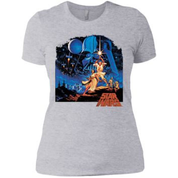 Star Wars A New Hope Classic Vintage Poster Graphic T-Shirt Next Level Ladies' Boyfriend T-Shirt
