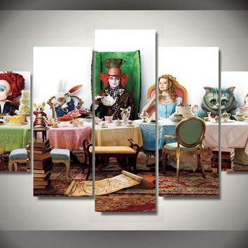 Alice in Wonderland Fantasy Home Decor Wall Art Canvas Panel Print Picture