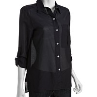 Marc by Marc Jacobs navy cotton-silk