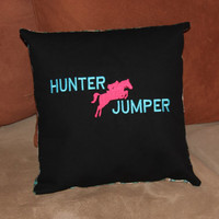 Embroidered Hunter Jumper Slip Pillow