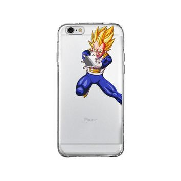 DRAGON BALL Z VEGETA SAIYAN iPhone and Samsung Galaxy Clear Case